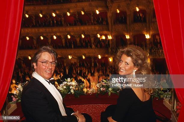 The Big Ball Of The Opera Prague The great ball of the Opera PRAGUE Alain Delon smiling attitude of sitting in a box at the ratings Suzana MAUS the...