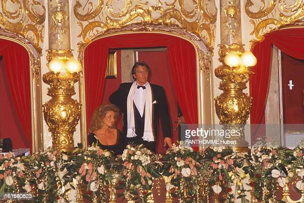 The Big Ball Of The Opera Prague The great ball of the Opera PRAGUE Alain Delon attitude standing in a dressing room with sitting by his side Suzana...