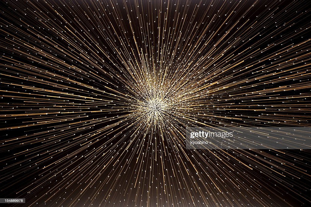The 'big bang' explosion in deep space