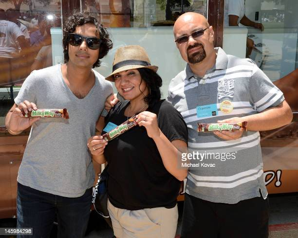 'The Big Bang Theory' actor Kunal Nayyar introduces the outofthisworld taste of the new MILKY WAY¨ Chocolate Ice Cream Bar while visiting a...