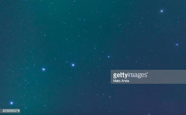 The Big Dipper in aurora borealis