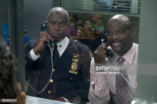 NINE 'The Big House Pt 1' Episode 501 Pictured Andre Braugher as Captain Ray Holt Terry Crews as Sergeant Terry Jeffords