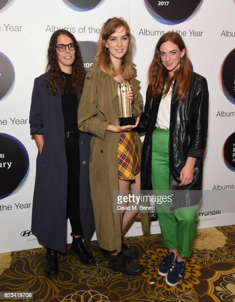 The Big Moon attends the nominations of the Hyundai Mercury Prize at The Langham Hotel on July 27 2017 in London England