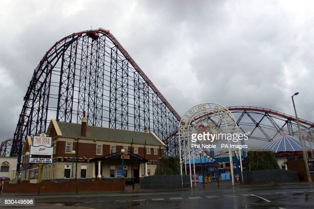 The Big One rollercoaster at Blackpool Pleasure Beach Lancashire where two carriages crashed Two people suffered serious injuries in the crash on the...