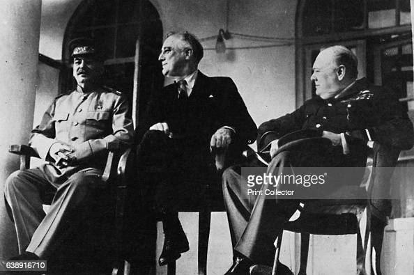 The Big Three met at Teheran' The Tehran Conference was a strategy meeting of Joseph Stalin Franklin D Roosevelt and Winston Churchill from 28th...