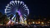 France, Cote d'Azur, Le Lavandou, the big wheel on the beach