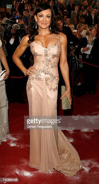 The Biggest Loser personla trainer Michelle Bridges arrives at the 2007 TV Week Logie Awards at the Crown Casino on May 6 2007 in Melbourne Australia...