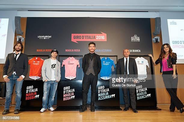 The bike trial champion Vittorio Brumotti biker Marco Melandri cyclist Giacomo Nizzolo former World Road Racing Champion Paolo Bettini and the...