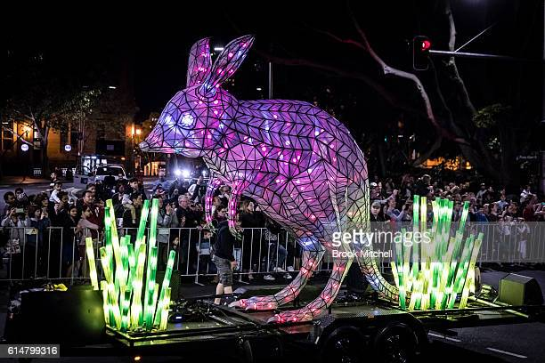 The Bilby float during the parade celebrating 100 years of Taronga Zoo on October 15 2016 in Sydney Australia The parade will recreate the historical...