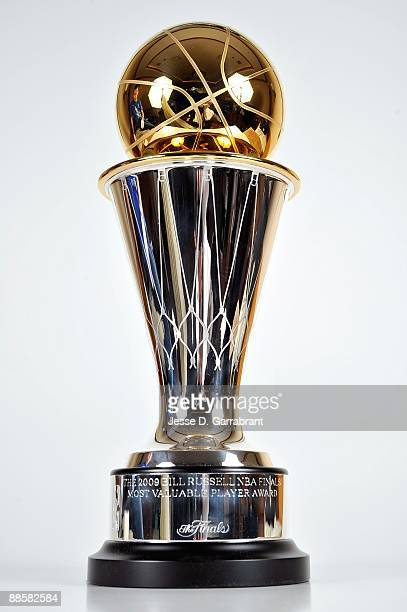 The Bill Russell NBA Finals MVP Trophy is photographed on June 10 2009 in Orlando Florida NOTE TO USER User expressly acknowledges and agrees that by...