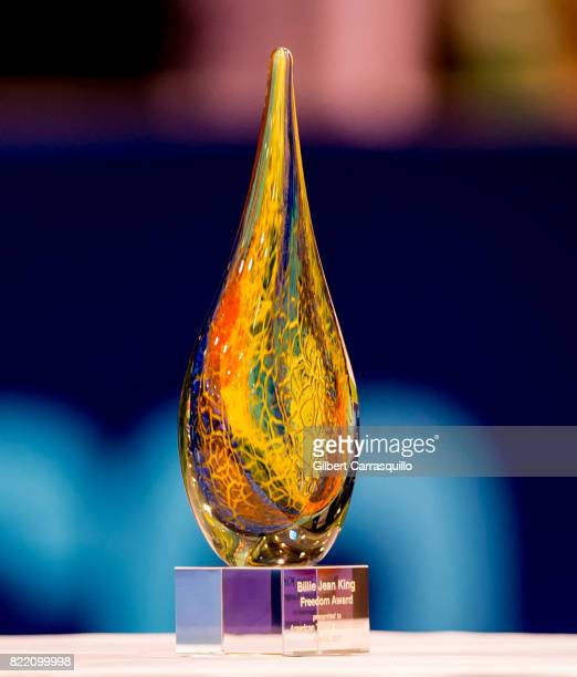 The Billie Jean King Freedom Award presented to Dr Franklyn Scott of the American Tennis Association during the 2017 Mylan World TeamTennis...