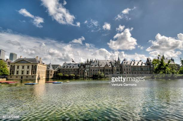 The Binnenhof and the Mauritshuis across the Hofvijver - The Hague - The Netherlands