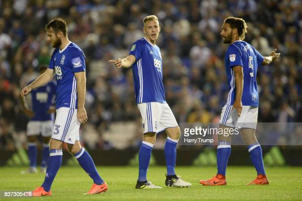 The Birmingham City players react to AFC Bournemouth scoring their second goal during the Carabao Cup Second Round match between Birmingham City and...