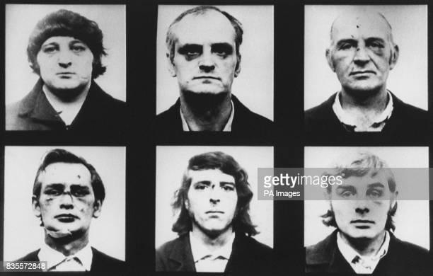 The Birmingham Six from left top Patrick Hill Hugh Callaghan and John Walker Bottom Richard McIlkenny Gerard Hunter and William Power