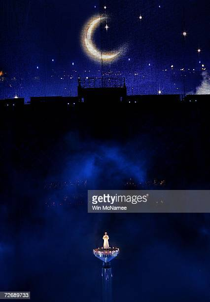 The birth of the universe is reenacted during a rehearsal at Khalifa Stadium for the Opening Ceremony of the 15th Asian Games November 29 2006 in...