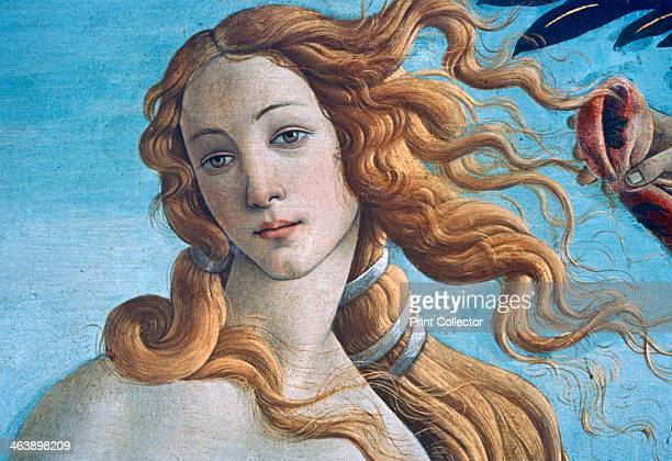 'The Birth of Venus' c1485 From the collection of the Galleria degli Uffizi Florence Italy