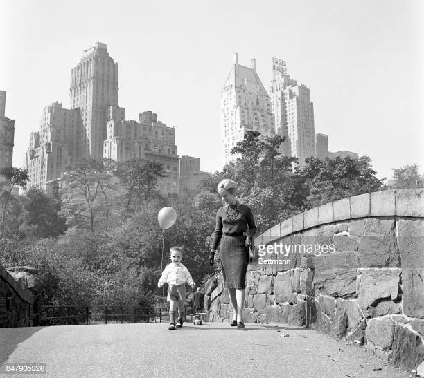 The birthday party is over and Shirley Jones and her son Shaun Cassidy trek homeward through Central Park The towering skyscrapers of Manhattan rise...