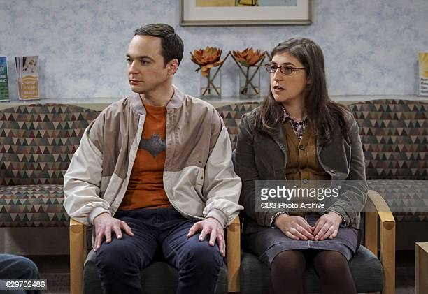 'The Birthday Synchronicity' Pictured Sheldon Cooper and Amy Farrah Fowler Howard and Bernadette welcome their new baby and Sheldon and Amy celebrate...