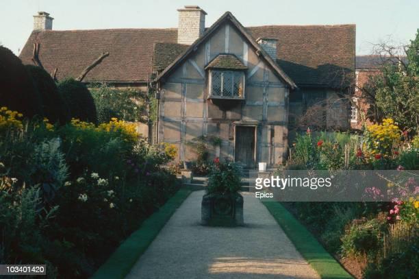 The birthplace of English playwright William Shakespeare in Henley Street StratforduponAvon Warwickshire September 1977