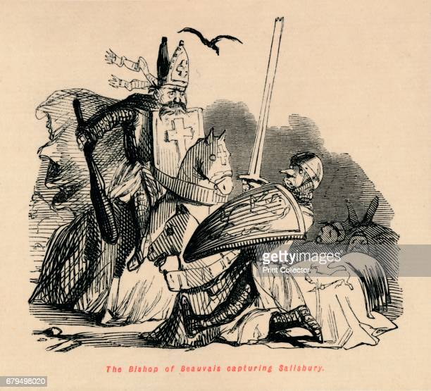 The Bishop of Beauvais capturing Salisbury' c1860 Philip of Dreux the Bishop of Beauvais capturing William Longesp⁄e 3rd Earl of Salisbury at the...