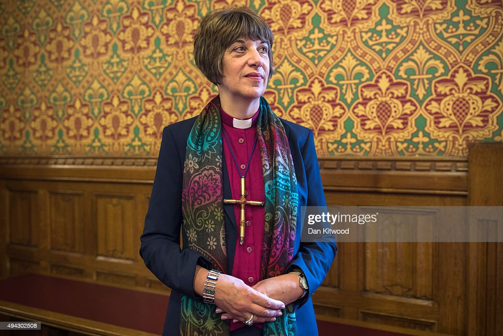 The Bishop of Gloucester, the Rt Rev Rachel Treweek, poses for a portrait inside a meeting room at the Houses of Parliament. on October 26, 2015 in London, England. Bishop Treweek who is the most senior female bishop in the Church of England is set to take her seat in the House of Lords today. She is the first female Bishop to be appointed to the House of Lords, and will be introduced as one of 26 Lords Spiritual by Archbishop of Canterbury Justin Welby and Bishop of London Richard Chartres.