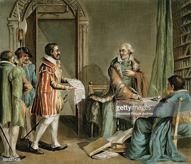 The Bishop of Lisieux Saving the Lives of Huguenots in His Diocese by AntoineFrancois SergentMarceau