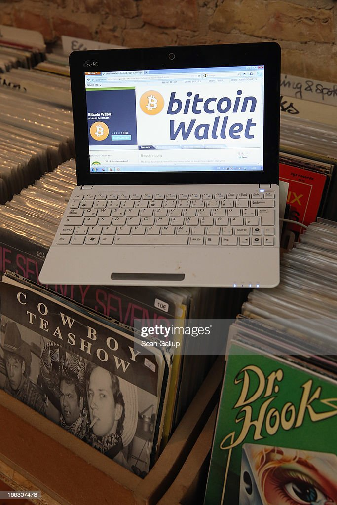 The bitcoin website is shown on the computer of the proprietor of a shop selling vinyl records and that accepts bitcoins for payment on April 11, 2013 in Berlin, Germany. Bitcoins are a digital currency traded on the MTGox exchange, and the value of the virtual money fluctuated from USD 260 per bitcoin down to USD 130 per bitcoin yesterday and recovered somewhat in trading today.