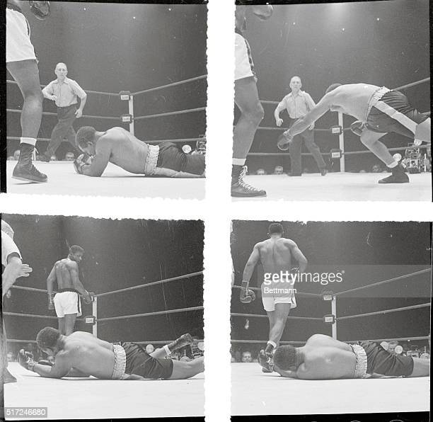 The Bitter End Chicago The 5th round of the world heavyweight title bout here proved too much for Archie Moore as he falls to the canvas after taking...