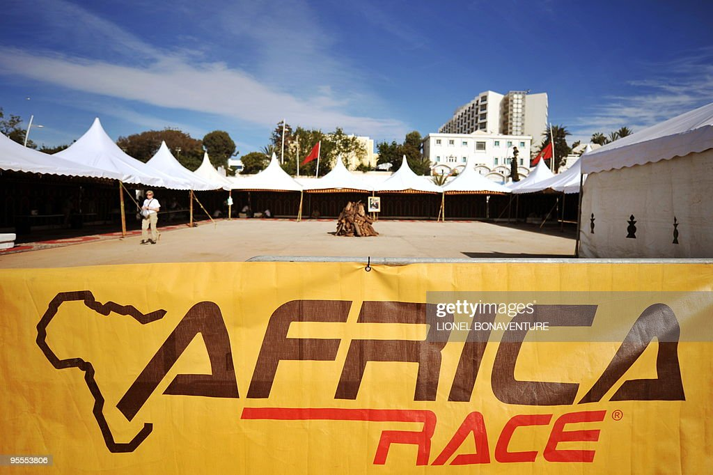 The bivouac is seen in Agadir, Morocco, during a rest day of the second edition of the Africa Eco Race, on Juanuary 3, 2010. The Africa Eco Race started on December 30, 2009 in Nador, Morocco, and continues over 11 days and 6,000 kilometres through Mauritania to lac Rose in Senegal.