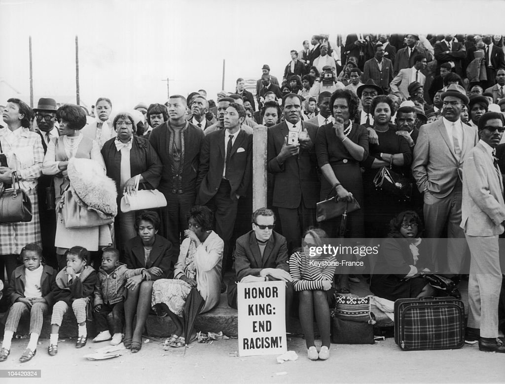 The Black American Population Came To Atlanta In Droves On April 11 To Attend The Funeral Procession Of Martin Luther King Jr From Ebenezer Baptist...