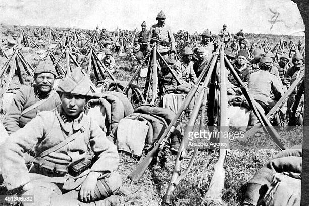 The black and white pictures Turkish General Staff has released on June 27 2014 show the Gallipoli front also known as Dardanelles in Turkey during...