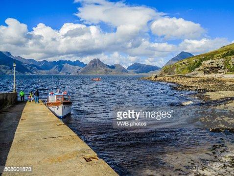 The Black Cuillin from Elgol, Isle of Skye : Foto de stock