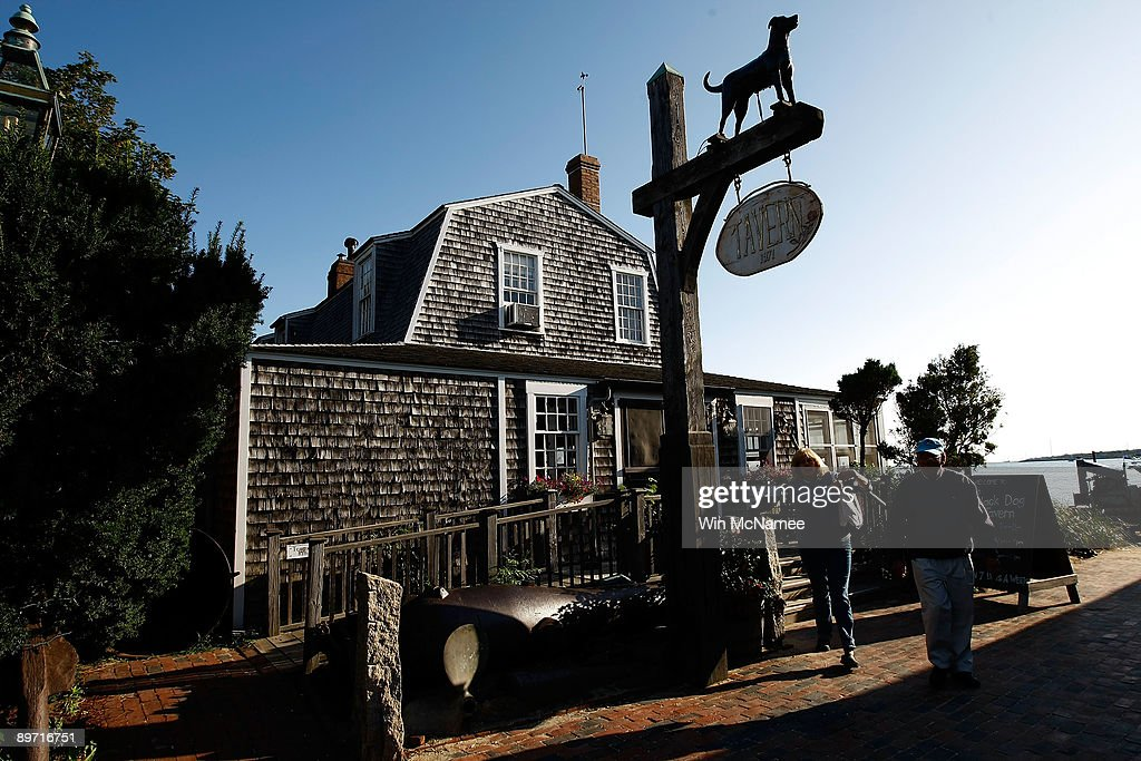 The Black Dog Tavern, a popular destination, is seen August 8, 2009 in Vineyard Haven, Massachusetts on the island of Martha's Vineyard. President Barack Obama and his family will visit Martha's Vineyard and stay at the Blue Heron Farm off South Road in Chilmark while on vacation during the last week of August.