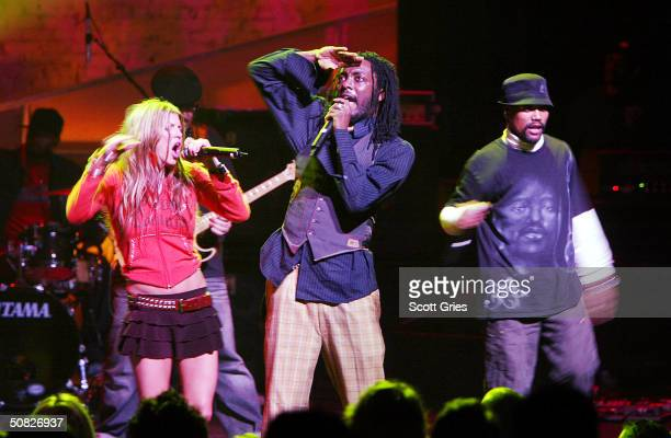 The Black Eye Peas perform during a fundraiser to increase minority voter registration and voter mobilization hosted by Voices for Working Families...