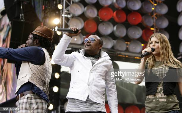 The Black Eyed Peas perform during the charity concert at Wembley Stadium London