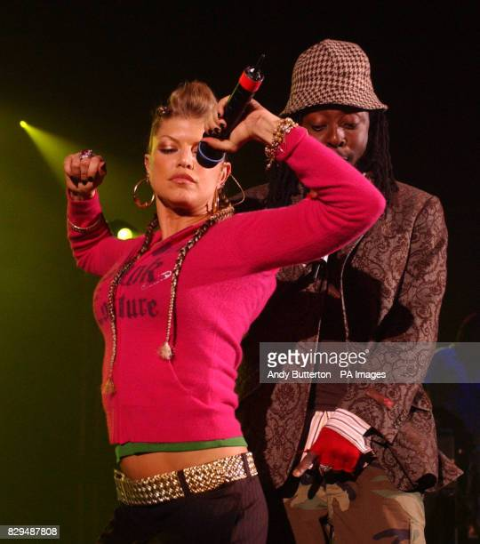 The Black Eyed Peas perform live on stage