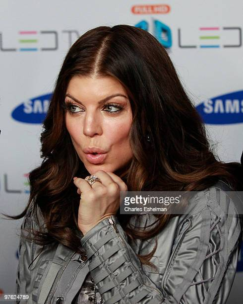 The Black Eyed Peas singer Fergie attends the Samsung 3D LED TV launch at the Time Warner Center on March 10 2010 in New York City