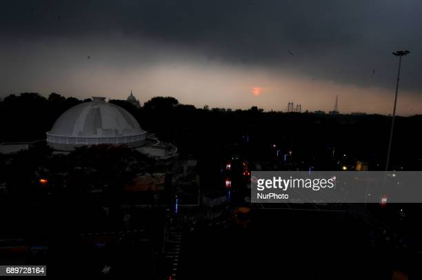 The Black sky in Kolkata City India on 29 May 2017 The deep depression over the Bay of Bengal is gaining strength and has further turned into a...