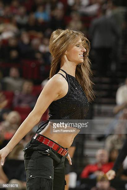 The BlazerDancers entertain the crowd during the game against the Toronto Raptors on October 26 2005 at the Rose Garden Arena in Portland Oregon NOTE...