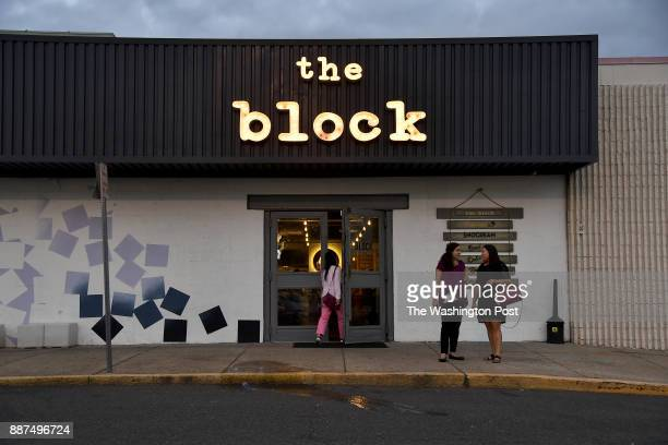 The Block a mini food court in a strip mall houses upscale fast food gourmet ice cream and donuts and has a bar September 26 2017 in Annandale VA