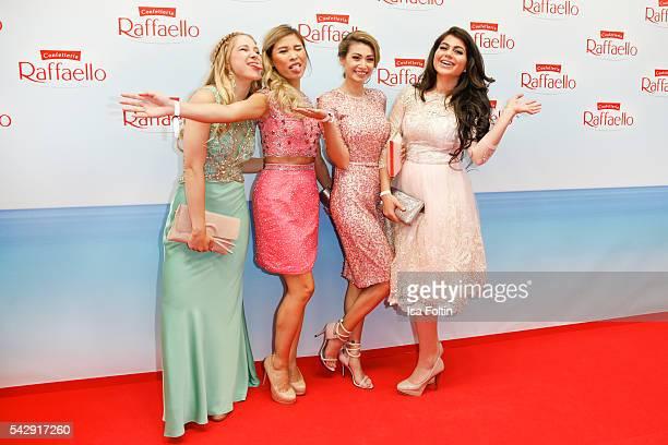 The Blogger Diana zur Loewen Kisu Nihan and Paola Maria attend the Raffaello Summer Day 2016 to celebrate the 26th anniversary of Raffaello on June...