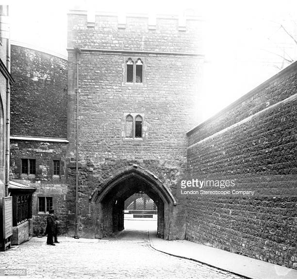 The Bloody Tower in the Tower of London a fortress in the City of London on the River Thames begun soon after 1066 later extended as used as a palace...