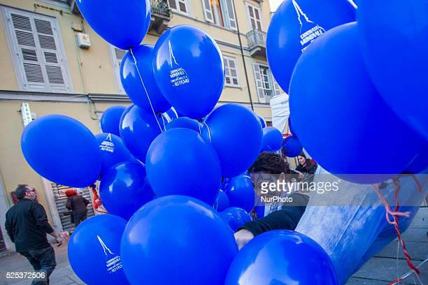 The blue balloons symbol of the World Autism Awareness Day