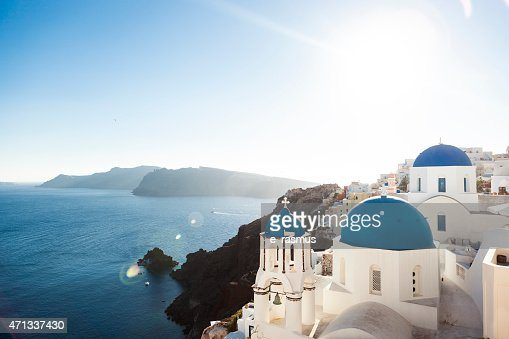 The Blue Church Domes of Oia, Santorini