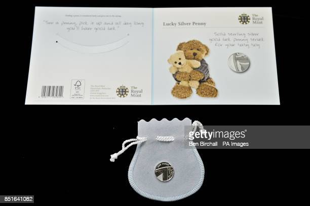 The blue for baby boys Silver Penny produced by the Royal Mint to coincide with the brith of the royal baby