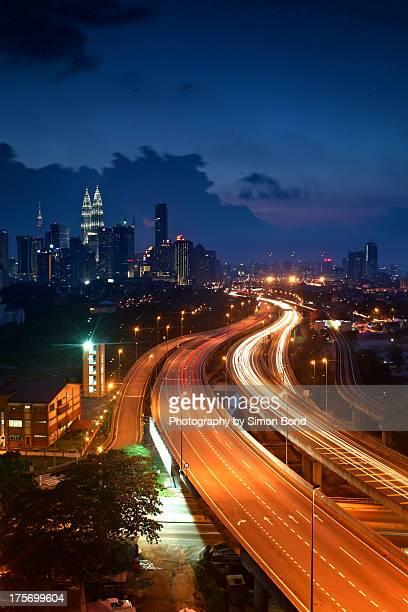 The blue hour in Kuala Lumpur