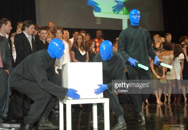 The Blue Man Group during The CW Launch Party Inside at WB Main Lot in Burbank California United States