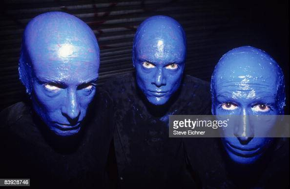 The Blue Man Group makes an appearance at the nightspot The Palladium 1994 New York