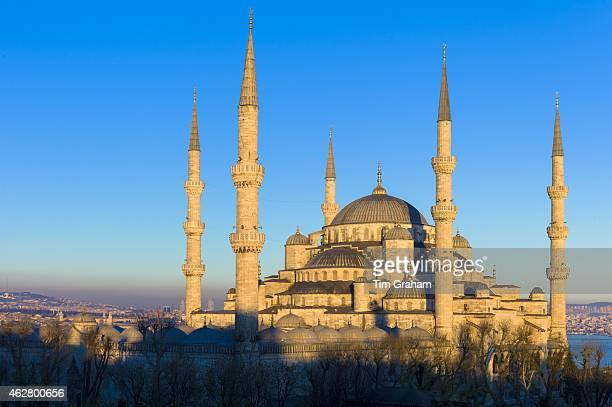 The Blue Mosque Sultanahmet Camii or Sultan Ahmed Mosque in Istanbul Republic of Turkey