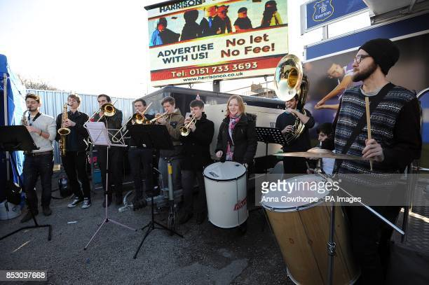 The Blue Nose Brass Band performs in the fan zone